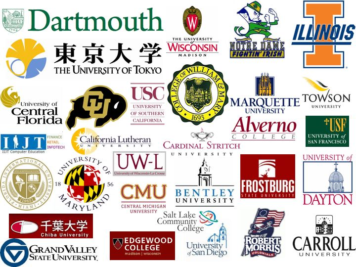 Colleges and Institutions Darin Eich has worked with.
